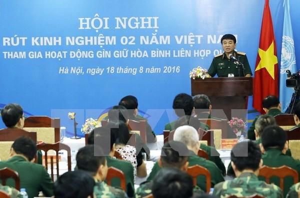 Activa participacion de Vietnam en las actividades en mantenimiento de la paz hinh anh 1