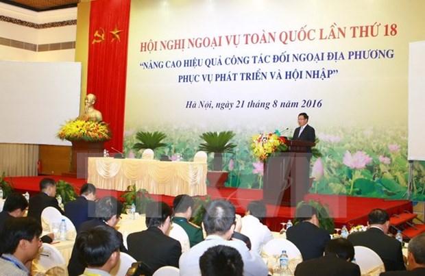 Actividades exteriores de localidades contribuyen al desarrollo nacional hinh anh 1