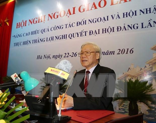 Inauguran Conferencia de Diplomacia de Vietnam hinh anh 1