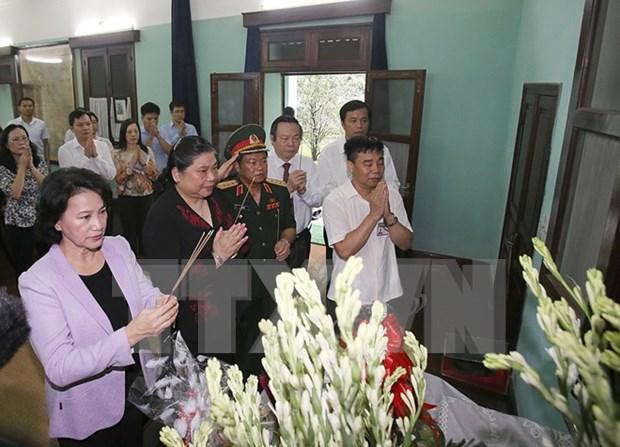 Lider parlamentaria rinde homenaje al presidente Ho Chi Minh hinh anh 1