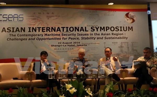 Cuestiones de seguridad maritima de Asia bajo lupa de expertos internacionales hinh anh 1