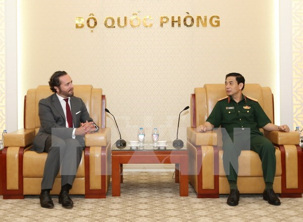 Recibe general vietnamita a lider de corporacion francesa hinh anh 1