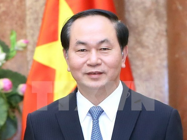 Presidente de Vietnam destaca relaciones con Francia hinh anh 1