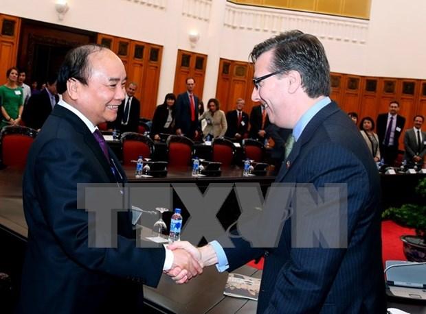 Premier llama a Consejo Empresarial EE.UU.-ASEAN ayudar a empresas vietnamitas hinh anh 1