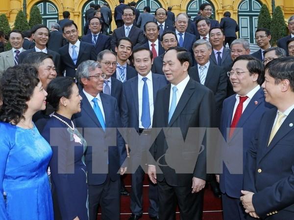 Presidente urge a diplomaticos a contribuir aun mas al desarrollo nacional hinh anh 1