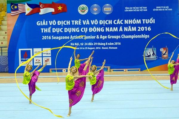 Celebran Torneo Juvenil de Gimnasia de Sudeste de Asia en Hanoi hinh anh 1