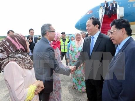 Presidente vietnamita llega a Brunei para visita estatal hinh anh 1