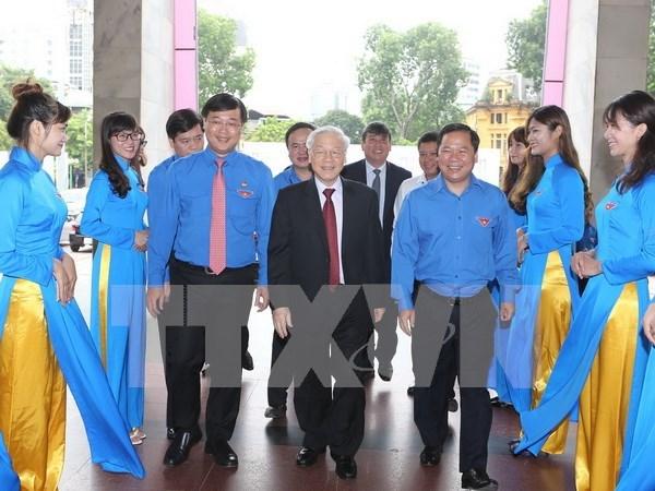 Lider partidista reitera confianza del pueblo vietnamita en la juventud nacional hinh anh 1