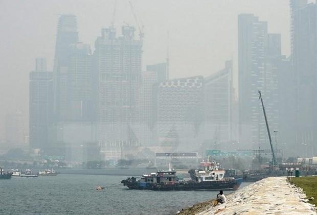 Neblina originada de incendios forestales en Indonesia sigue afectando Singapur hinh anh 1