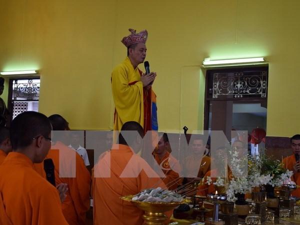 Celebraciones budistas de comunidad vietnamita en Tailandia hinh anh 1