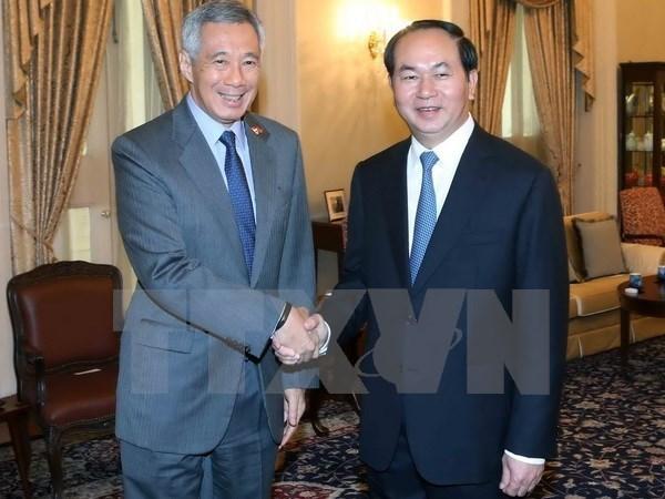 Vietnam y Singapur reafirman avance de cooperacion multifacetica hinh anh 1