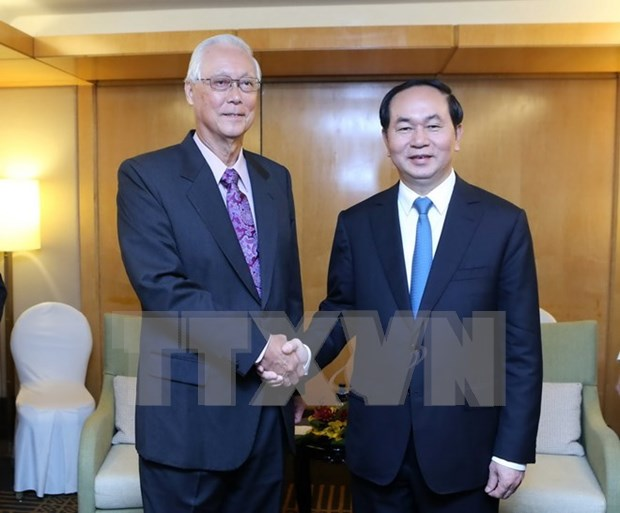 Presidente de Vietnam concluye visita estatal a Singapur hinh anh 1