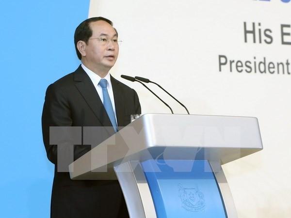 Presidente vietnamita habla sobre el papel de ASEAN en la estructura regional hinh anh 1