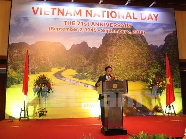 En extranjero efectuan distintas actividades por Dia Nacional de Vietnam hinh anh 1
