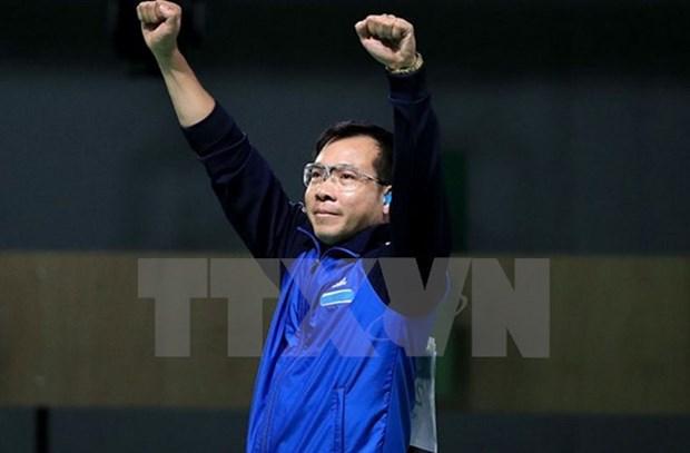 Hoang Xuan Vinh encabeza ranking mundial en pistola de 10 metros hinh anh 1