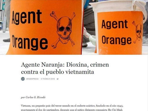 ArgenPress: Dioxina, crimen contra el pueblo vietnamita hinh anh 1