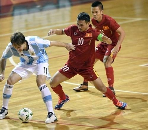 Vietnam pierde ante Argentina en futbol sala hinh anh 1