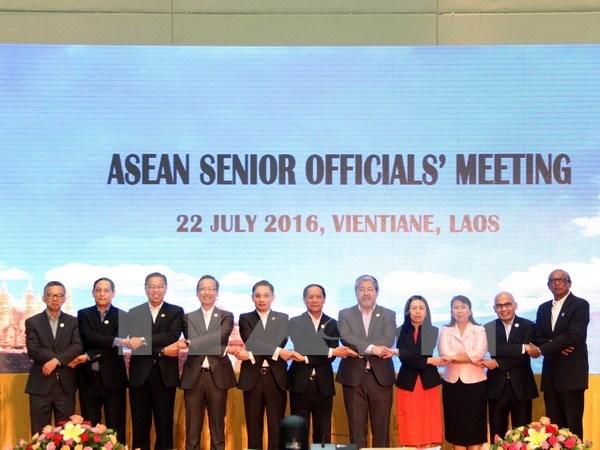 Altos funcionarios de ASEAN preparan sus proximas Cumbres en Laos hinh anh 1