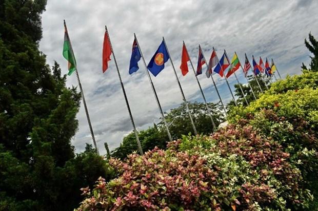 Inauguran las 28 y 29 cumbres de ASEAN en Laos hinh anh 1