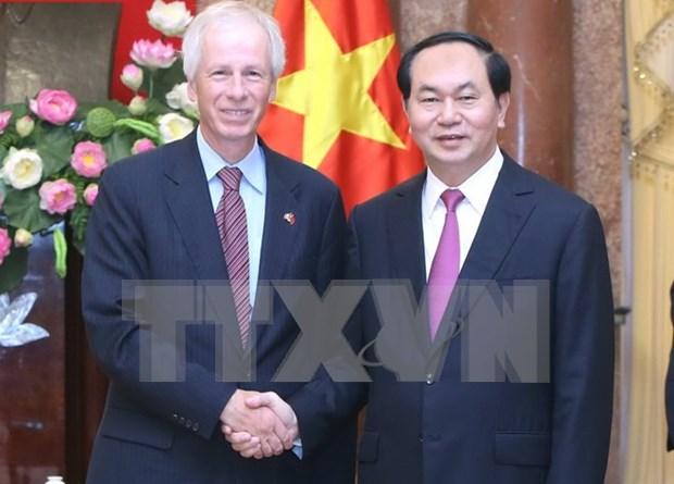 Presidente de Vietnam sugiere pronta ratificacion por Canada de TPP hinh anh 1