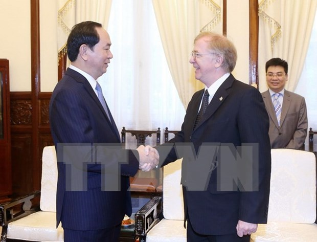 Recibe presidente de Vietnam a embajador canadiense hinh anh 1
