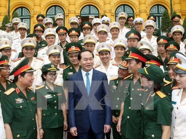 Presidente vietnamita destaca ejemplaridad de jovenes hinh anh 1