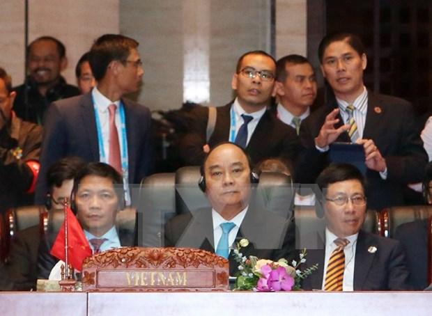 Premier asiste a Cumbre de Asia Oriental y reuniones entre ASEAN y sus socios hinh anh 1
