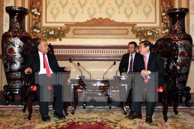 Delegacion de Partido de Trabajo de Mexico visita Ciudad Ho Chi Minh hinh anh 1