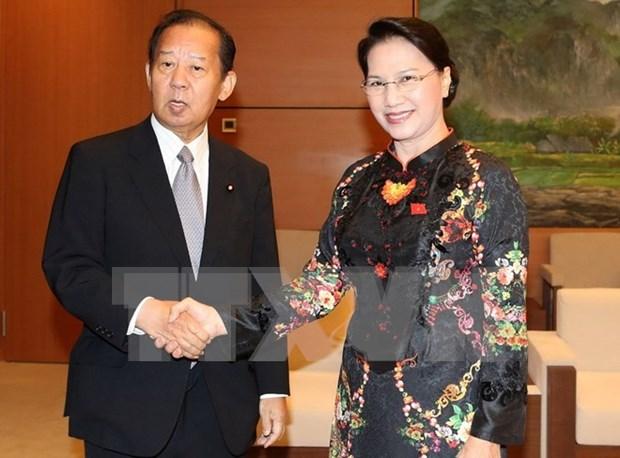 Presidenta parlamentaria recibe al secretario general del PLD hinh anh 1