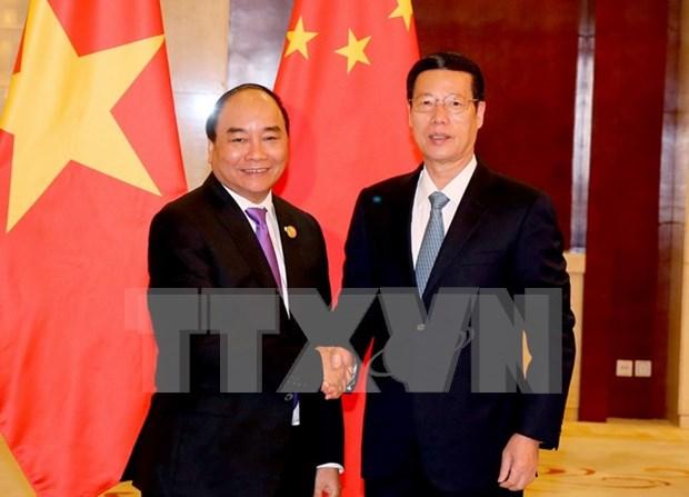 Premier de Vietnam reitera en China politica exterior de autodeterminacion hinh anh 1