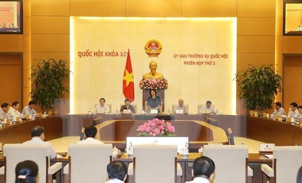 Comite Permanente de Parlamento de Vietnam inicia tercera sesion hinh anh 1