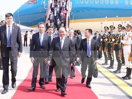 Primer ministro de Vietnam llega a Beijing hinh anh 1