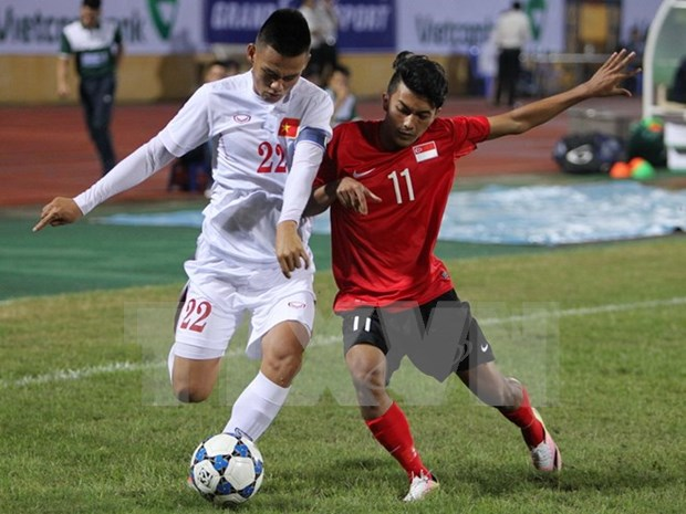 Vietnam empata con Singapur en estreno de campeonato de futbol sub-19 hinh anh 1