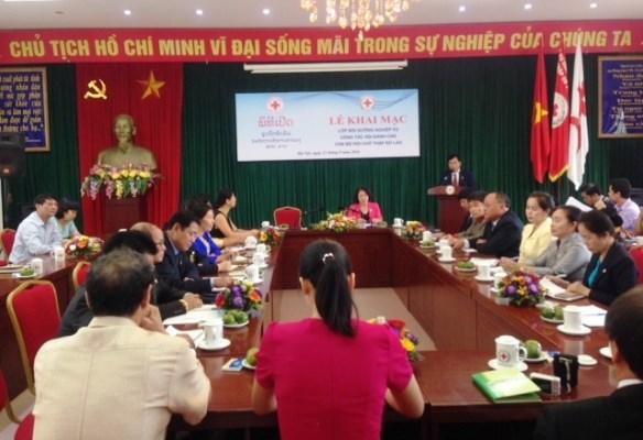 Vietnam colabora con Laos en desarrollo de actividades de Cruz Roja hinh anh 1