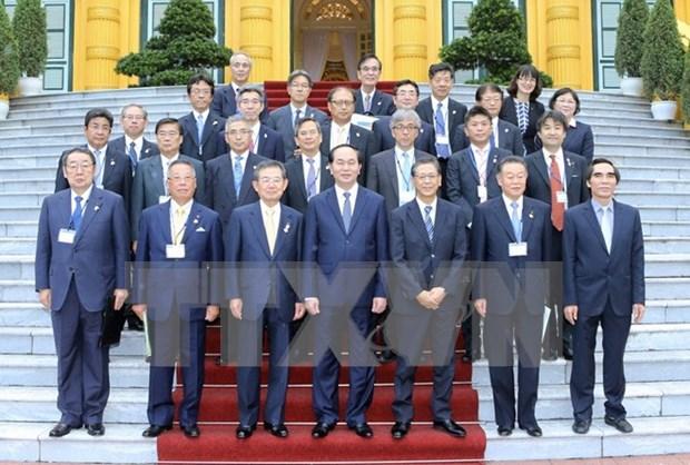 Presidente de Vietnam apoya el dialogo economico con Kansai hinh anh 1
