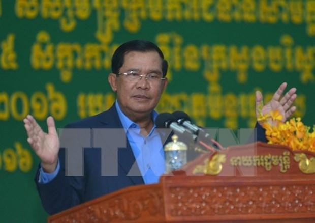 Premier de Camboya alerta sobre plan de manifestacion del partido opositor hinh anh 1