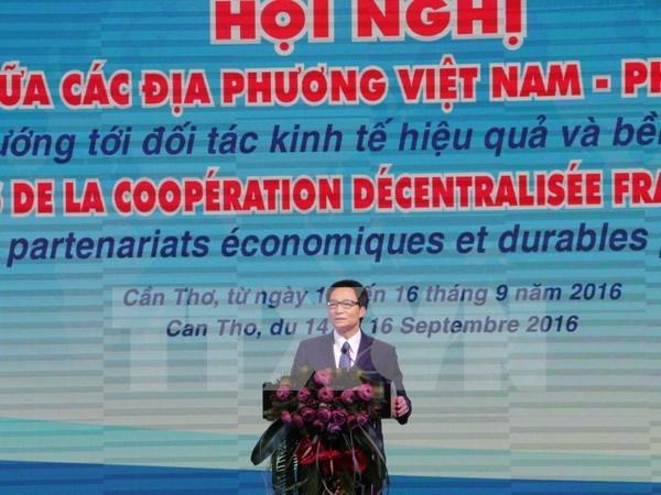 Inauguran decima conferencia sobre cooperacion interprovincial Vietnam – Francia hinh anh 1