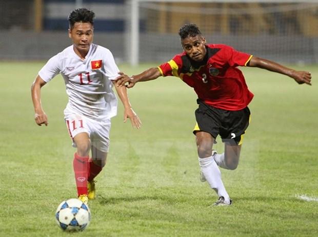 Vietnam cosecha primera victoria en campeonato regional de futbol sub-19 hinh anh 1