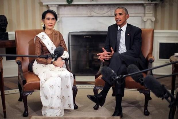 Estados Unidos decide levantar sanciones economicas contra Myanmar hinh anh 1