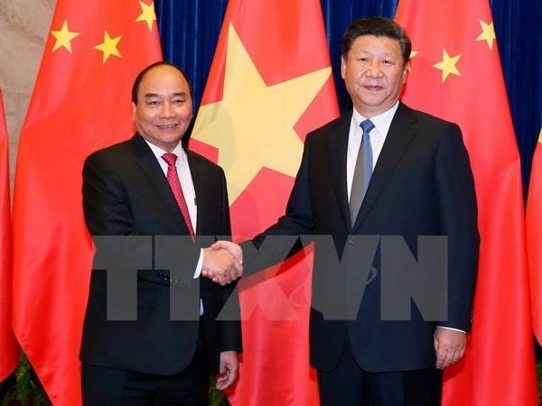 Prensa china presta especial atencion a visita de premier de Vietnam hinh anh 1