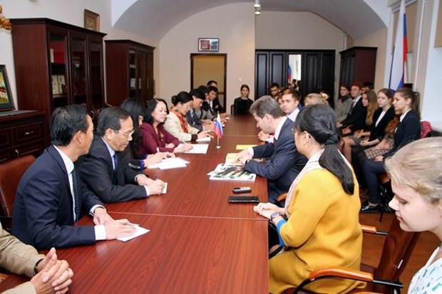 Alta funcionaria partidista de Vietnam concluye visita de trabajo a Rusia hinh anh 1