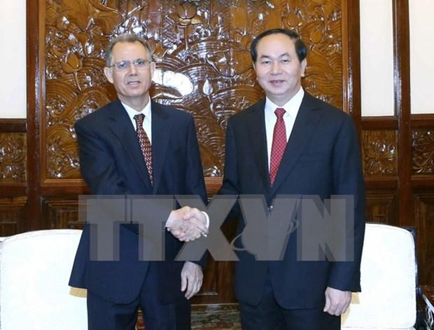 Presidente de Vietnam recibe al embajador de Marruecos hinh anh 1