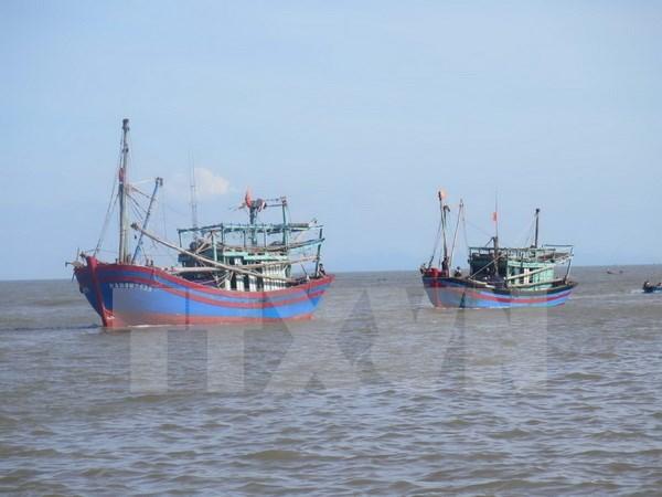 Pescadores vietnamitas salvados por equipos de rescate chinos regresan a casa hinh anh 1