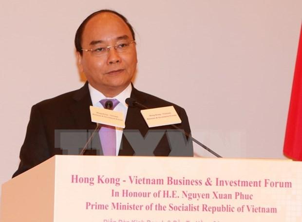 Premier asiste a Foro de Negocios e Inversion Vietnam- Hong Kong hinh anh 1