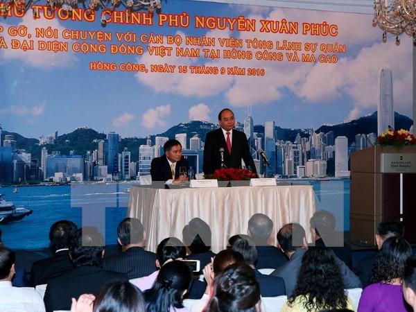 Premier vietnamita continua actividades en Hong Kong hinh anh 1