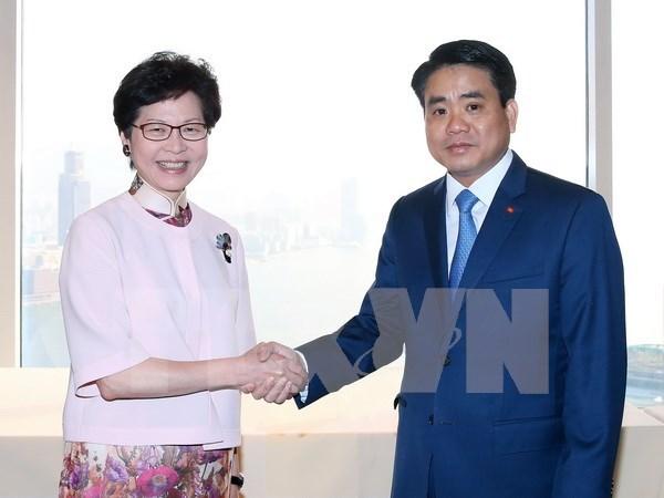 Hanoi y Hong Kong amplian sectores de cooperacion hinh anh 1