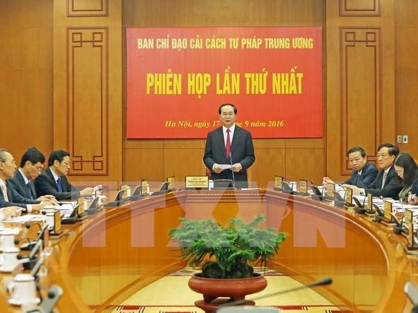 Presidente de Vietnam preside primera sesion del Comite de Reforma Judicial hinh anh 1