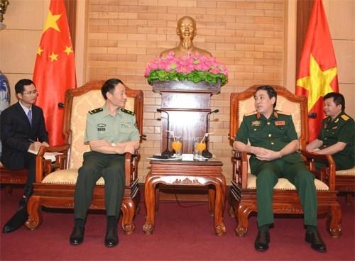 Visita Vietnam mision de comision militar central de China hinh anh 1