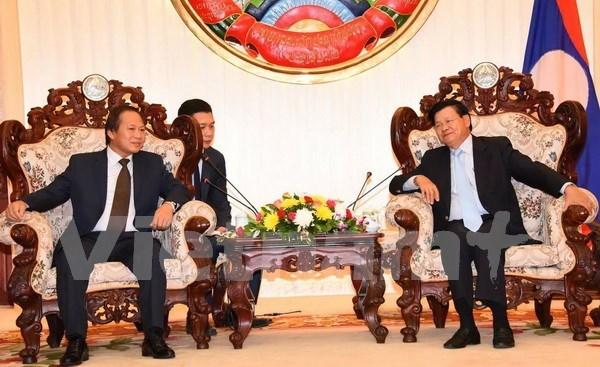 Laos pide apoyo de Vietnam en construccion del gobierno electronico hinh anh 1