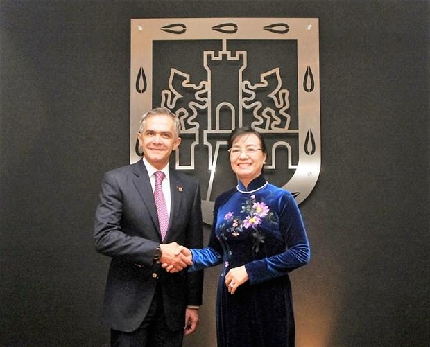 Ciudad de Mexico y Ciudad Ho Chi Minh fomentan nexos cooperativos hinh anh 1
